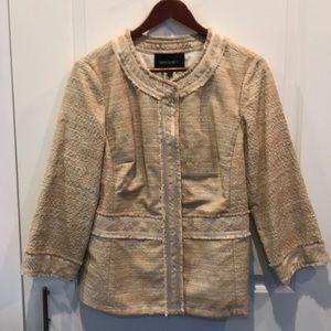 Lafayette 148 gold metallic threaded blazer